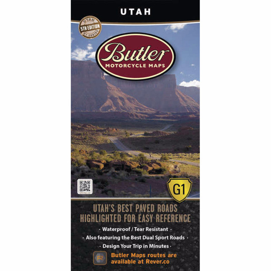 Butler Motorcycle Maps Utah G1 Map