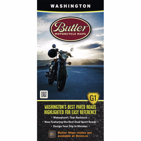 Butler Motorcycle Maps Washington State G1 Map