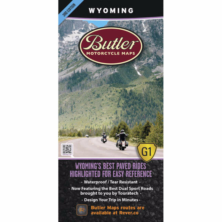 Butler Motorcycle Maps Wyoming G1 Map