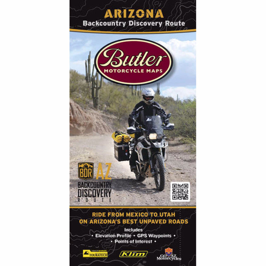 Butler Motorcycle Maps Arizona BDR Map