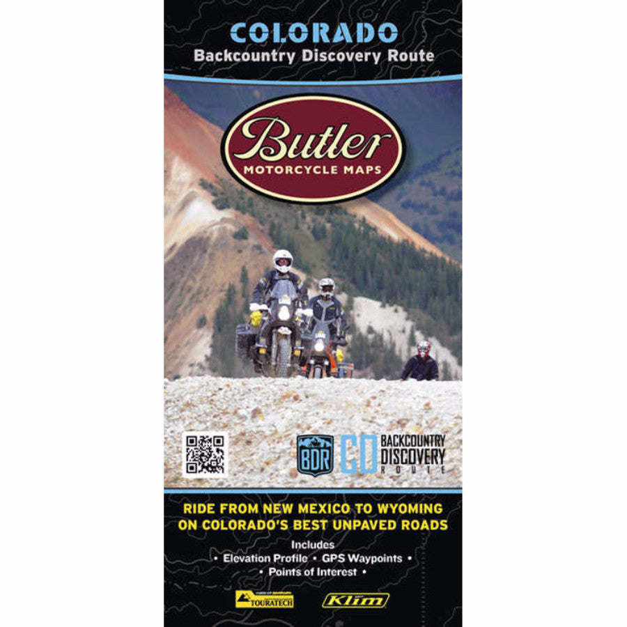 Butler Motorcycle Maps Colorado BDR Map