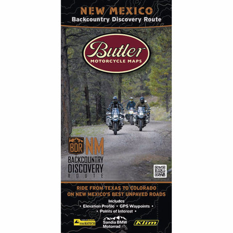 Butler Motorcycle Maps New Mexico G1 Map