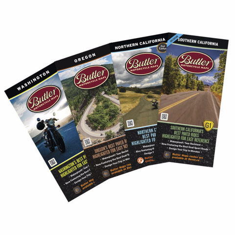 Butler Motorcycle Maps Pacific Pack