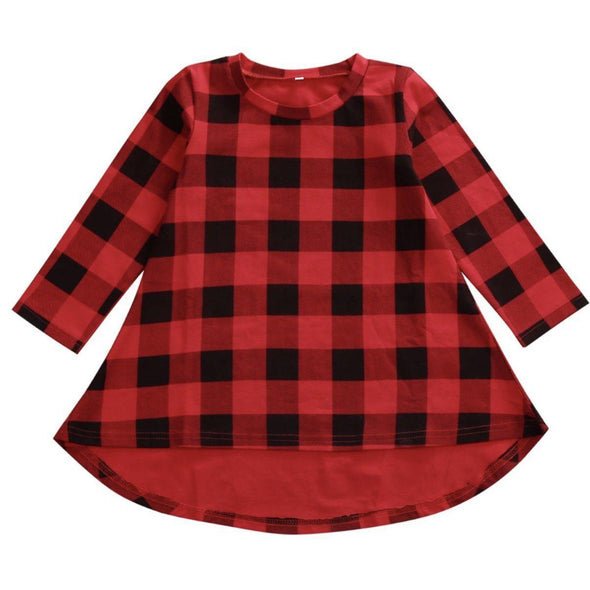 BUFFALO PLAID HI-LOW TUNIC - Honey Beez
