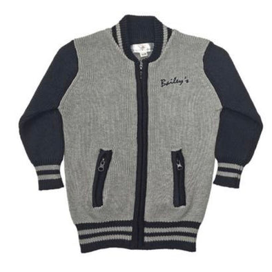 GREY SWEATER BOMBER - Honey Beez