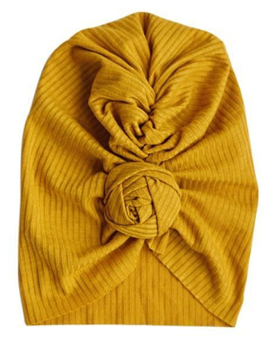 TWISTED BUN TURBAN *MUSTARD - Honey Beez