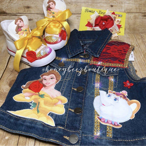 *CUSTOM DENIM VEST - Honey Beez