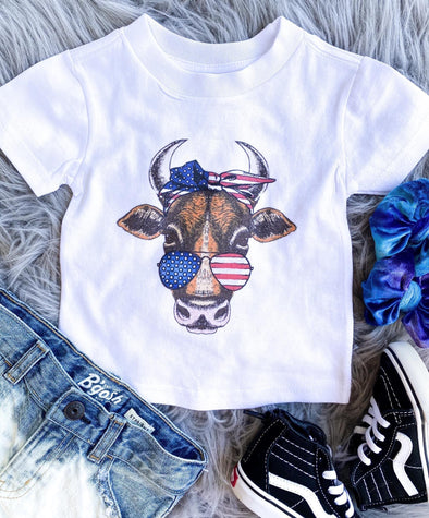 PATRIOTIC COW TEE - Honey Beez