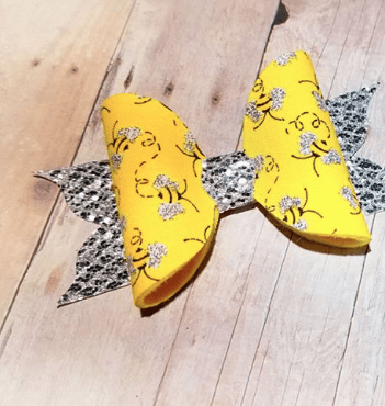 BUMBLE BEE FLUTTER BOW - Honey Beez