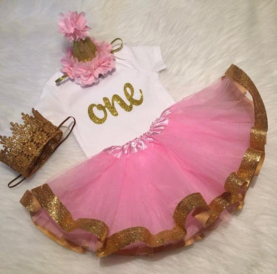 """ONE"" GLAM TUTU SET - Honey Beez"