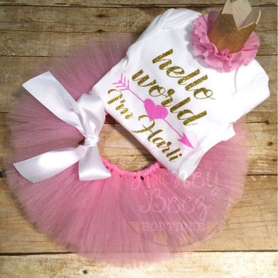 HELLO WORLD TUTU SET - Honey Beez