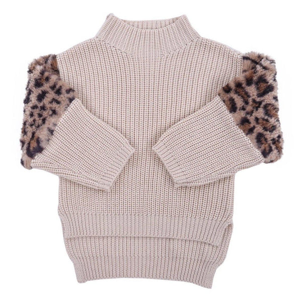 Leopard Patch Sweater
