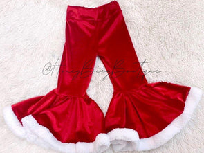 Santa Velvet Bell Bottoms