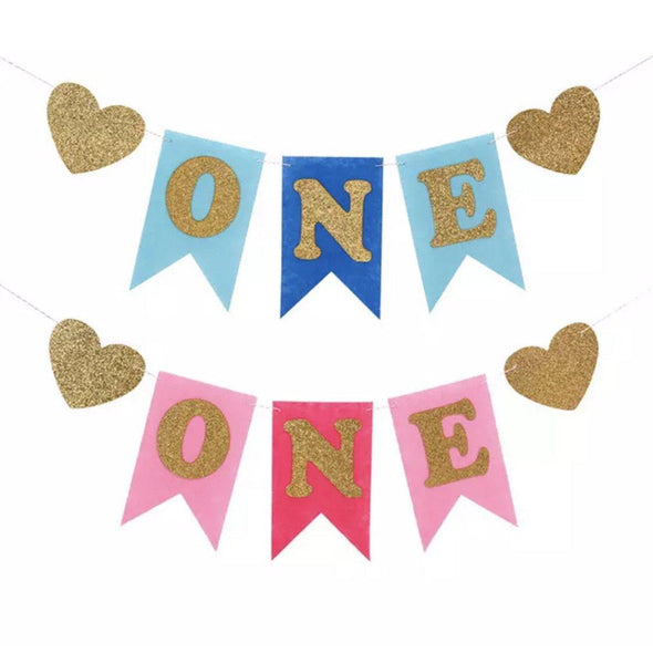 """ONE"" BIRTHDAY BANNER - Honey Beez"