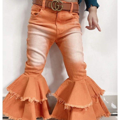 Kids Children's Bell Bottom Jeans Pants
