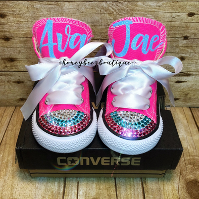 SIGNATURE BLING CONVERSE - Honey Beez