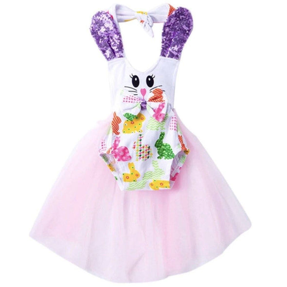 BUNNY FAN ROMPER - Honey Beez