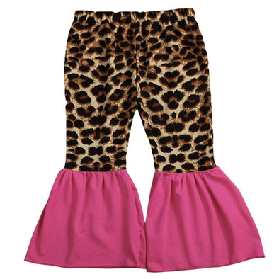 LEOPARD PINK BELL BOTTOMS - Honey Beez