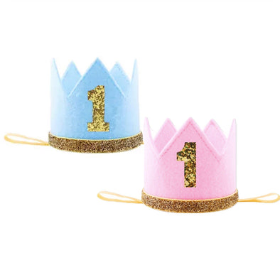 """1"" FELT BIRTHDAY CROWN - Honey Beez"