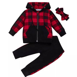 BUFFALO PLAID JOGGER SET - Honey Beez