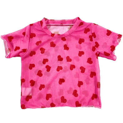 QUEEN OF HEARTS MESH TOP