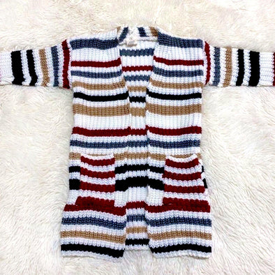 Bria Striped Cardigan