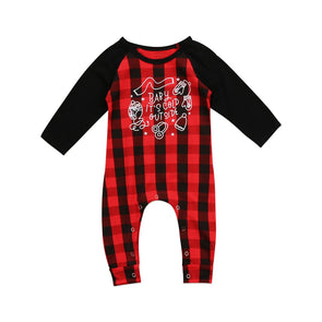 BUFFALO PLAID ROMPER - Honey Beez