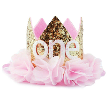 """ONE"" BIRTHDAY CROWN - Honey Beez"