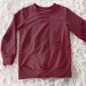 Distressed Lounge Top *Wine