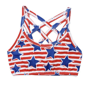 PATRIOTIC BRALETTE - Honey Beez
