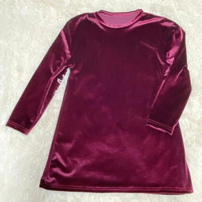 Velvet Tshirt Dress *Merlot