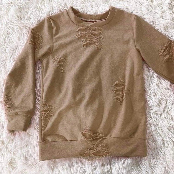 Distressed Lounge Top *Coffee