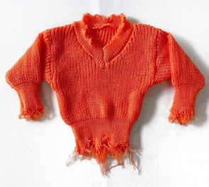 Pumpkin Distressed Sweater