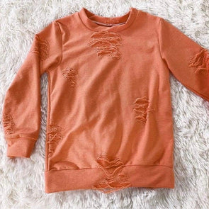 Distressed Lounge Top *Pumpkin