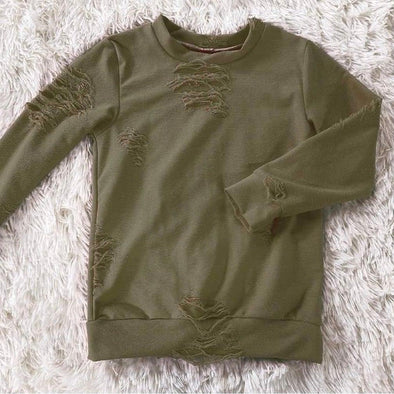 Distressed Lounge Top *Sage