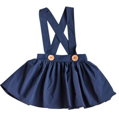 DIANE SUSPENDER SKIRT *NAVY - Honey Beez