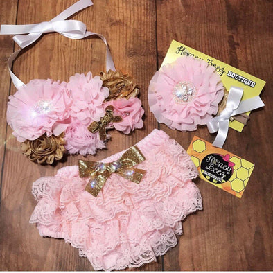 3PC BANDEAU BIRTHDAY SET - Honey Beez