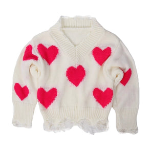 IVORY SWEETHEART SWEATER