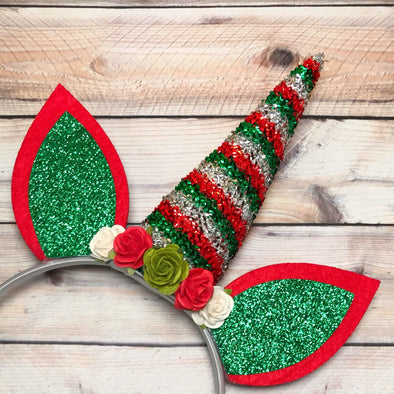 HOLIDAY UNICORN HEADBAND - Honey Beez