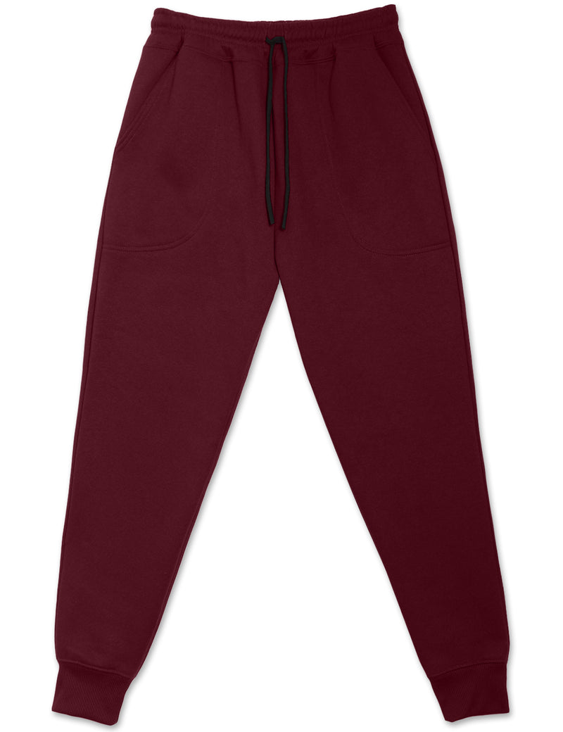 Fleece Jogger Sweatpants (Burgundy)