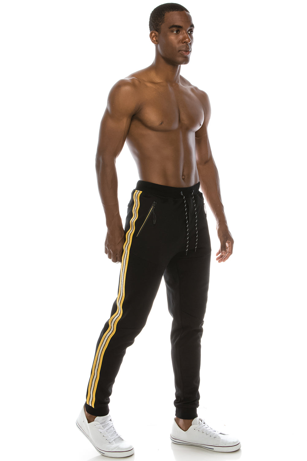 Track Pants Side Metallic Stripe (4 Colors)