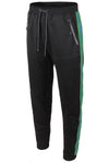 Track Pants Side Metallic Stripe (Black Green)