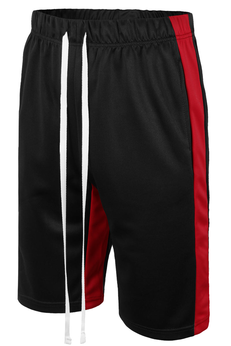 Track Shorts Side Stripes (Black Red)