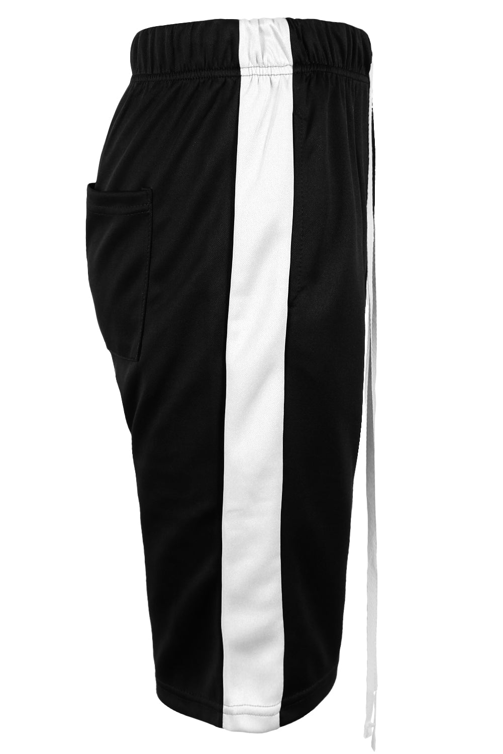 Track Shorts Side Stripes (Black White)
