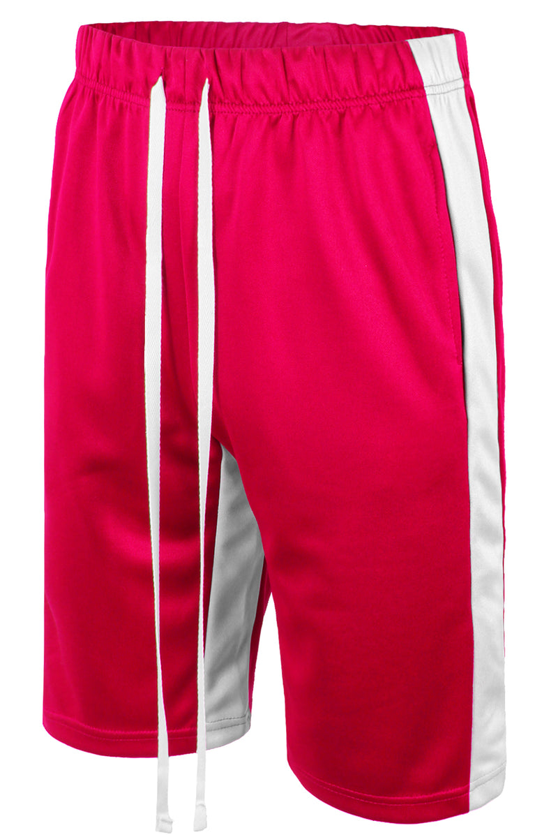 Track Shorts Side Stripes (Fuschia)
