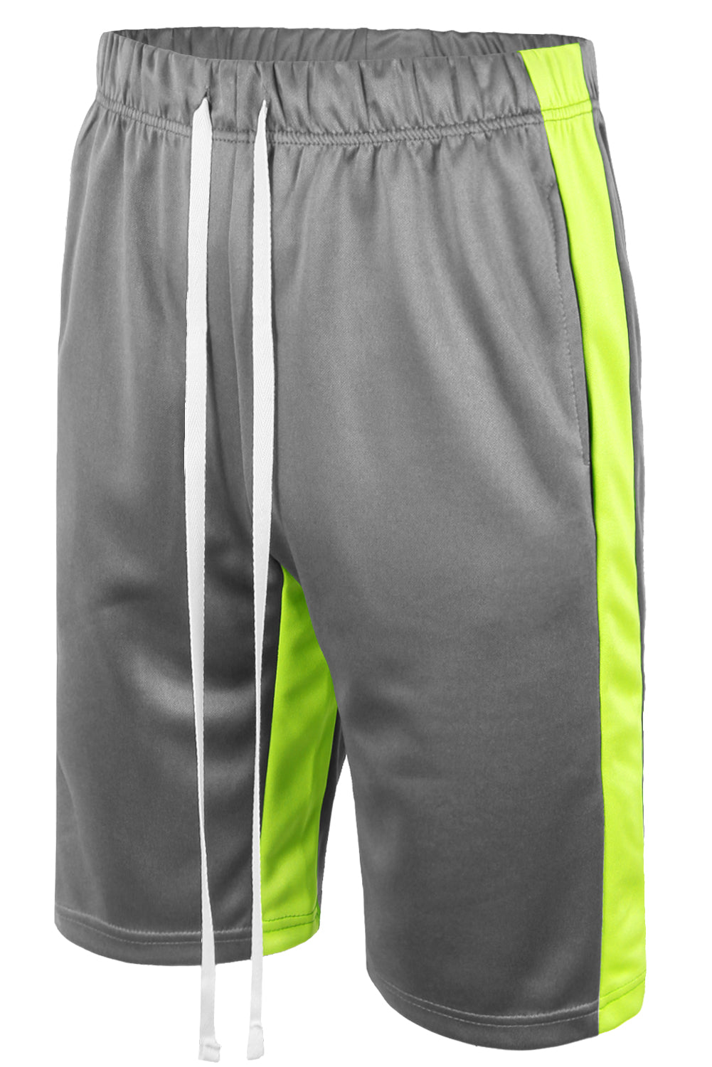Track Shorts Side Stripes (Grey Lime)