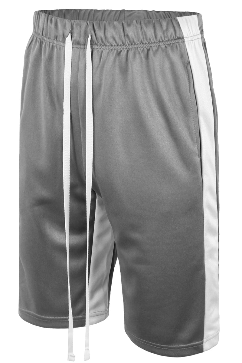 Track Shorts Side Stripes (Grey White)