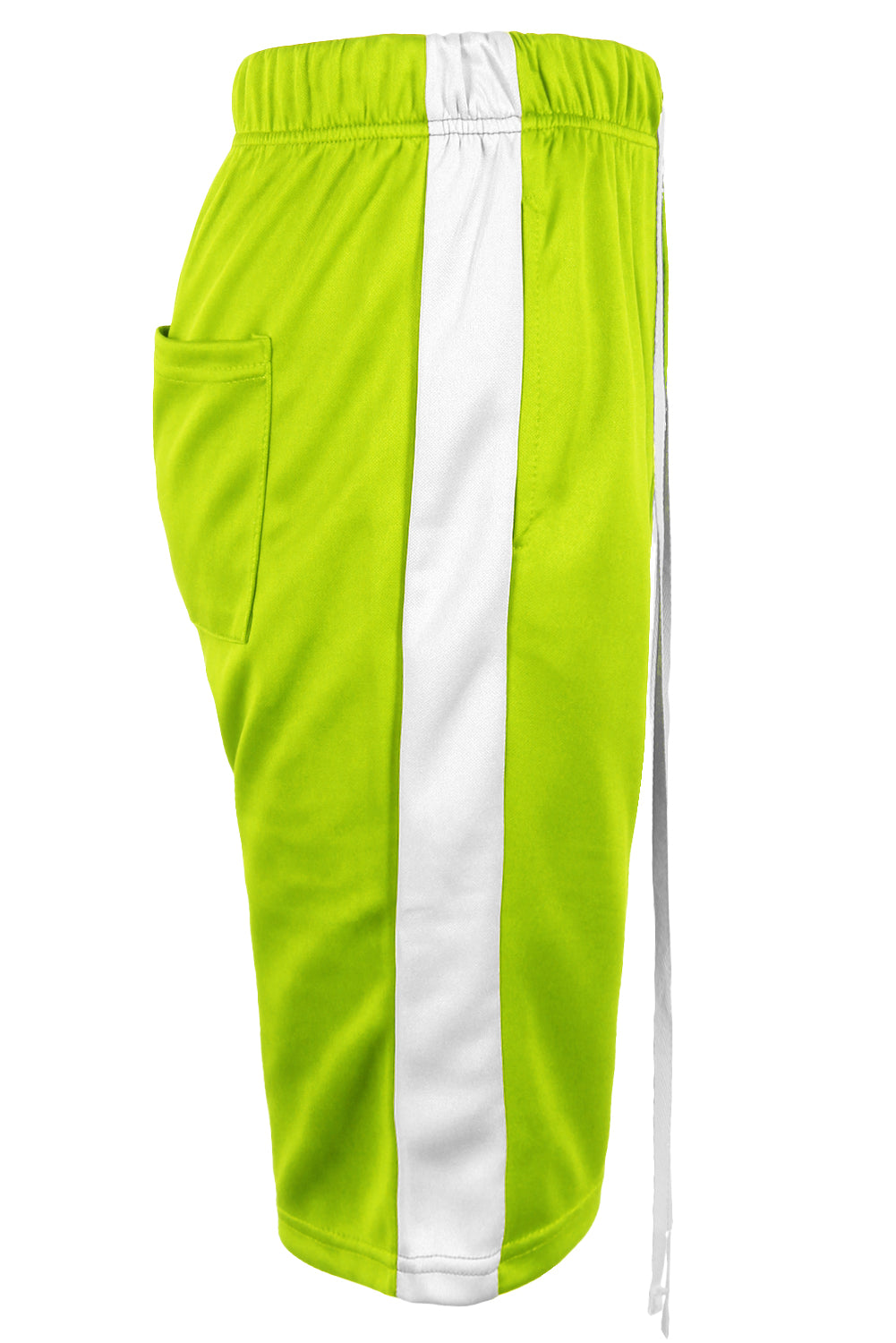 Track Shorts Side Stripes (Lime)