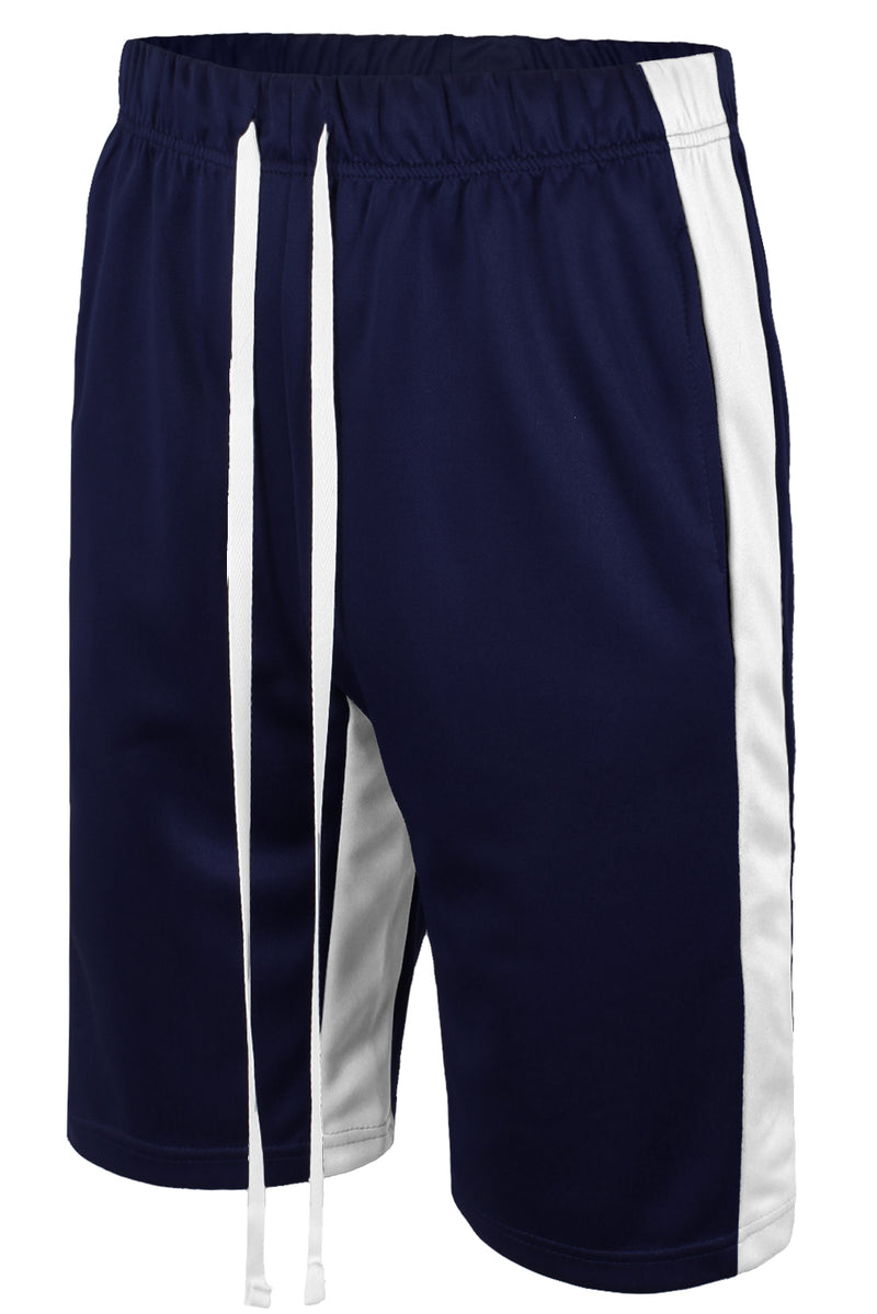 Track Shorts Side Stripes (Navy White)