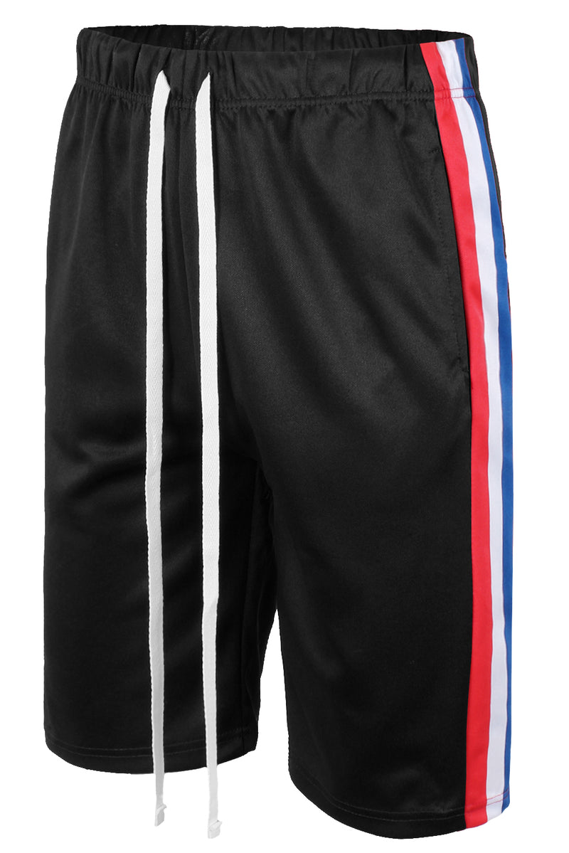 Tri-colored Stripes Track Shorts (3 Colors)